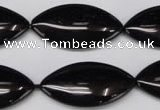CON40 15.5 inches 16*30mm marquise black onyx gemstone beads
