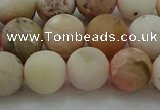 COP1333 15.5 inches 10mm round matte natural pink opal gemstone beads