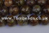 COP1373 15.5 inches 10mm round fire lace opal beads wholesale