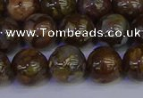 COP1374 15.5 inches 12mm round fire lace opal beads wholesale