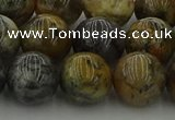 COP1384 15.5 inches 12mm round moss opal gemstone beads whholesale