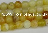 COP1426 15.5 inches 6mm round yellow opal beads wholesale