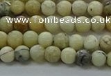 COP1460 15.5 inches 4mm round African opal gemstone beads