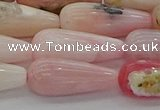 COP1490 15.5 inches 8*20mm teardrop natural pink opal beads