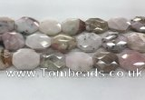 COP1497 22*28mm - 25*32mm faceted octagonal natural pink opal beads