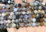 COP1516 15.5 inches 6mm faceted nuggets amethyst sage opal beads