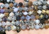 COP1517 15.5 inches 8mm faceted nuggets amethyst sage opal beads
