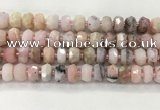 COP1550 15.5 inches 7*10mm faceted rondelle natural pink opal beads