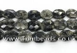 COP1551 25*30mm - 27*32mm faceted octagonal grey opal beads