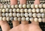 COP1562 15.5 inches 8mm round matte African opal beads