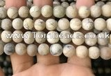COP1564 15.5 inches 12mm round matte African opal beads