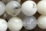 COP1585 15.5 inches 8mm round white opal gemstone beads