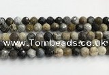 COP1612 15.5 inches 12mm faceted round moss opal beads