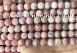 COP1749 15.5 inches 8mm round natural pink opal beads wholesale
