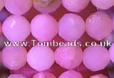 COP1778 15.5 inches 5mm faceted round pink opal beads wholesale