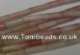 COP178 15.5 inches 4*13mm tube pink opal gemstone beads wholesale