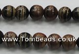 COP221 15.5 inches 10mm round natural brown opal gemstone beads