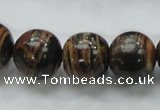 COP224 15.5 inches 16mm round natural brown opal gemstone beads