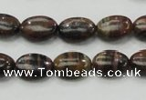 COP231 15.5 inches 10*14mm oval natural brown opal gemstone beads