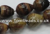 COP239 15.5 inches 15*20mm teardrop natural brown opal gemstone beads