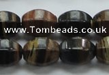 COP240 15.5 inches 13*18mm faceted rice natural brown opal gemstone beads