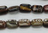 COP248 15.5 inches 10*14mm rectangle natural brown opal gemstone beads