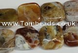 COP322 15.5 inches 16*16mm square brandy opal gemstone beads wholesale