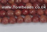 COP441 15.5 inches 4mm faceted round African blood jasper beads
