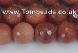 COP445 15.5 inches 12mm faceted round African blood jasper beads