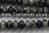 COP475 15.5 inches 6*10mm faceted rondelle natural grey opal beads