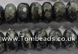 COP477 15.5 inches 10*16mm faceted rondelle natural grey opal beads
