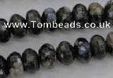 COP498 15.5 inches 5*8mm faceted rondelle natural grey opal beads