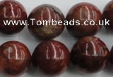 COP517 15.5 inches 20mm round red opal gemstone beads wholesale