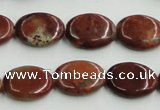 COP522 15.5 inches 13*18mm oval red opal gemstone beads wholesale