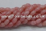 COP55 15.5 inches 5*7mm rice natural pink opal gemstone beads