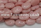 COP63 15.5 inches 10*14mm oval natural pink opal gemstone beads