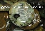 COS14 15.5 inches 25mm flat round ocean stone beads wholesale