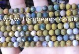 COS310 15.5 inches 6mm faceted round ocean jasper beads