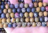 COS312 15.5 inches 9mm - 10mm faceted round ocean jasper beads