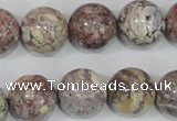 COT06 15.5 inches 18mm round osmanthus stone beads wholesale
