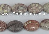 COT09 15.5 inches 13*18mm oval osmanthus stone beads wholesale