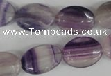 COV135 15.5 inches 13*18mm oval fluorite gemstone beads wholesale
