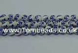 CPB513 15.5 inches 10mm round Painted porcelain beads