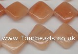 CPE24 15.5 inches 14*14mm diamond peach stone beads wholesale