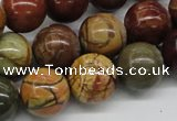 CPJ15 15.5 inches 6mm round picasso jasper beads wholesale