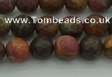 CPJ531 15.5 inches 6mm faceted round picasso jasper beads