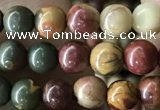 CPJ633 15.5 inches 4mm round picasso jasper beads wholesale