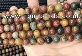 CPJ673 15.5 inches 10mm round picasso jasper beads wholesale