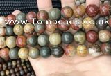 CPJ674 15.5 inches 12mm round picasso jasper beads wholesale