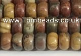 CPJ676 15.5 inches 2.5*4mm rondelle picasso jasper beads wholesale